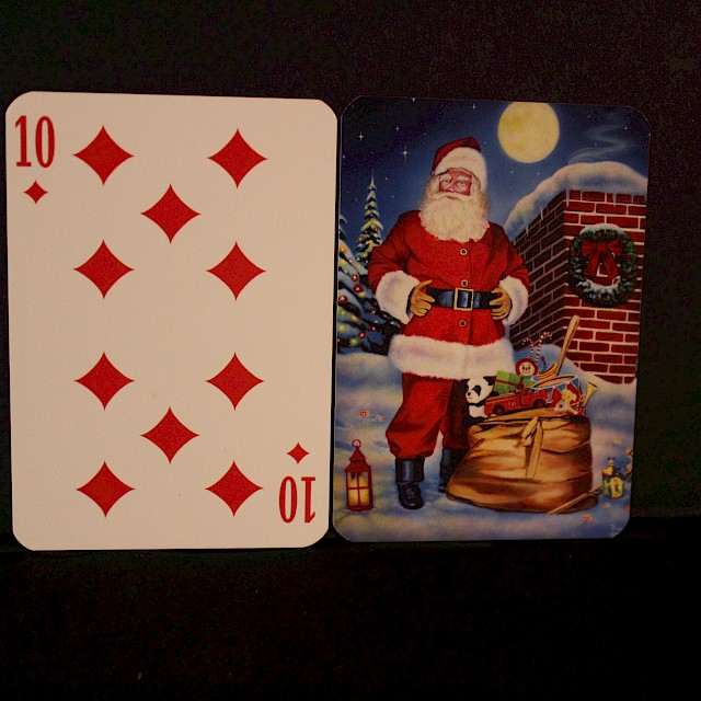 Moonlit St. Nick Playing Cards-Standard Set Image