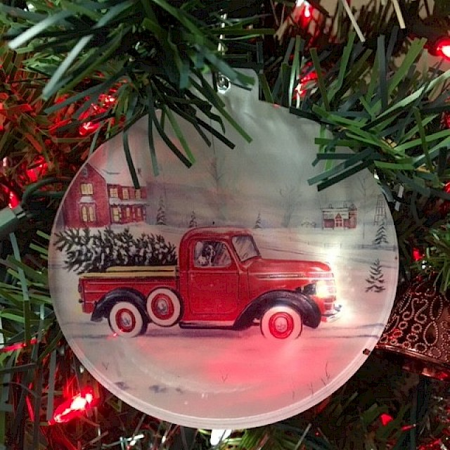 Acrylic Ornament Country Christmas Image