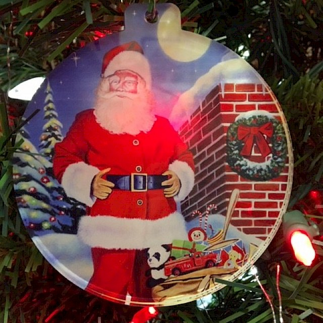 Acrylic Ornament Moonlit St. Nick Image